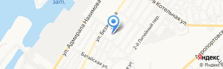 Столовая на карте Астрахани