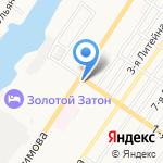 Магазин мясной продукции на карте Астрахани