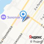 Чайка на карте Астрахани