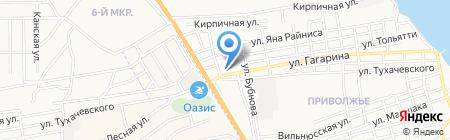 Детская школа искусств №1 на карте Астрахани