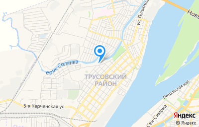 Местоположение на карте пункта техосмотра по адресу г Астрахань, ул Абазанская, д 3А