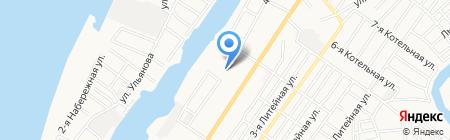 Волга-Трейд на карте Астрахани