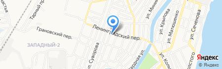 Белый город на карте Астрахани