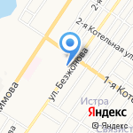 Браво на карте Астрахани