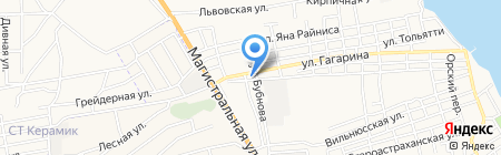 Приволжье на карте Астрахани