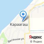 Ахматовский сельсовет на карте Астрахани