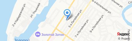 Городская библиотека №11 на карте Астрахани