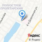 Золотой затон на карте Астрахани