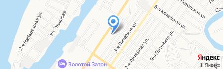Астраханская лингвистическая гимназия на карте Астрахани