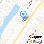 Аир на карте Астрахани