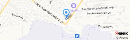Аэропорт на карте Астрахани