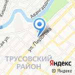 Здравушка на карте Астрахани