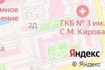 Схема проезда до компании Городская клиническая больница №3 им. С.М. Кирова в Астрахани