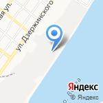 Астраханский морской порт на карте Астрахани
