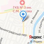 Борщок на карте Астрахани