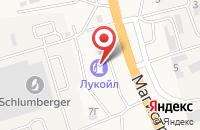 Схема проезда до компании АЗС Лукойл в Солянке