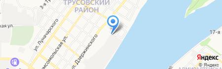 Лок на карте Астрахани