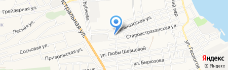 Специальная коррекционная школа-интернат 1-2 вида на карте Астрахани
