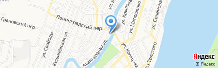 Лидия на карте Астрахани