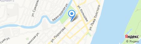 Корзинка на карте Астрахани