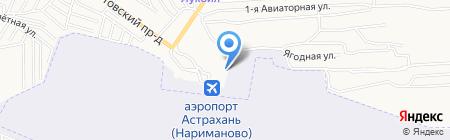Лайнер на карте Астрахани