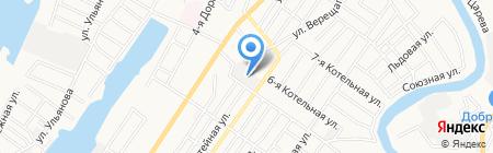 Аристей на карте Астрахани