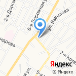 Тотоша на карте Астрахани