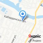 Астраханские лимузины на карте Астрахани