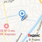 Мишутка на карте Астрахани