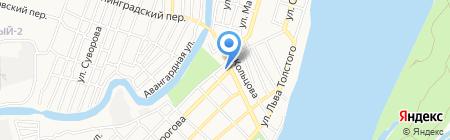 Фавор на карте Астрахани