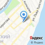 Зеленый домик на карте Астрахани