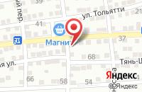 Схема проезда до компании Универсальный магазин в Астрахани