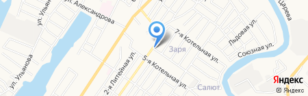 VIP Такси на карте Астрахани