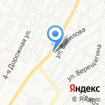 Тигра на карте Астрахани