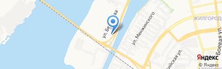 Чистюля на карте Астрахани