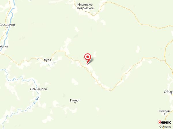 деревня Гавриловская на карте