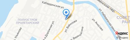 Нариман на карте Астрахани