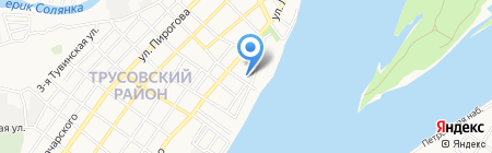 Трусовский районный отдел судебных приставов г. Астрахани на карте Астрахани