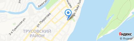 Приколист на карте Астрахани