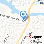 Каспиец на карте Астрахани