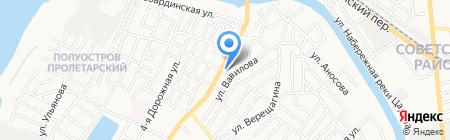 Омельнянский на карте Астрахани