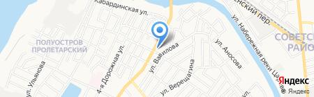 Дельта на карте Астрахани