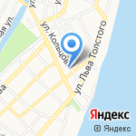 Купеческий на карте Астрахани