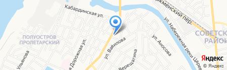 Калео-Астрахань на карте Астрахани