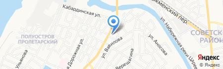 Франтель на карте Астрахани