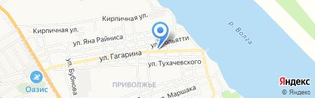 Библиотека №14 на карте Астрахани
