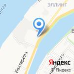 Сердце Каспия на карте Астрахани