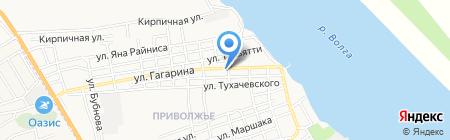 Санги Стиль на карте Астрахани