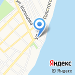 Магазин товаров для строительства и дома на карте Астрахани