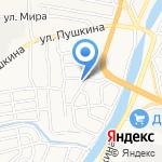 Бумеранг на карте Астрахани